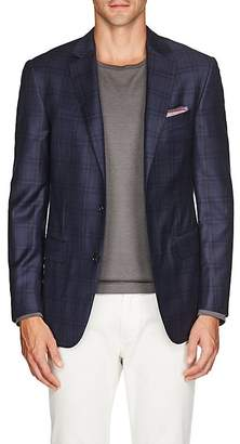 Pal Zileri MEN'S PLAID WOOL TWO-BUTTON SPORTCOAT
