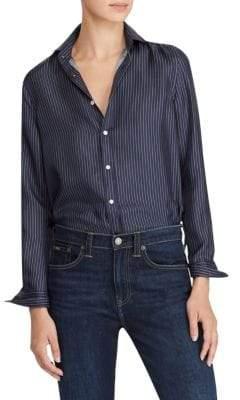 Polo Ralph Lauren Silk Button-Front Shirt