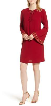 MICHAEL Michael Kors Embellished Bell Sleeve Shift Dress