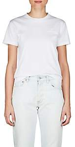 Balenciaga Women's Logo-Embroidered Cotton Jersey T-Shirt - White