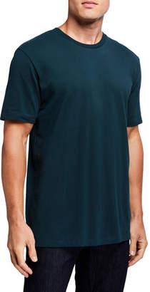 Scotch & Soda Men's Solid Cotton Pique Crewneck T-Shirt