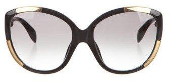 Alexander McQueenAlexander McQueen Two-Tone Oversize Sunglasses