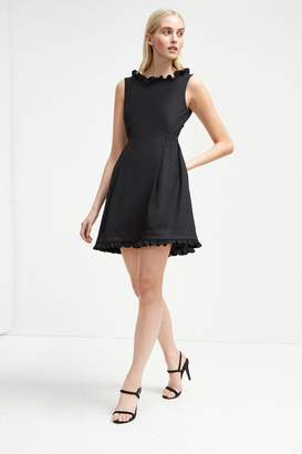 Alvina French Connenction Stretch Frill Belted Dress