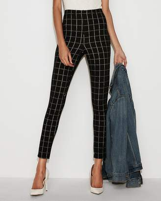Express High Waisted Windowpane Ankle Leggings