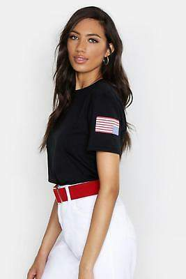 boohoo NEW Womens Nasa License Front & Back Print T-Shirt in Cotton