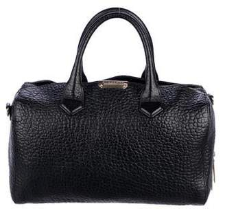 Burberry Pebbled Leather Handle Bag