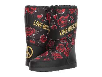 Love Moschino Rose Print Snow Boot