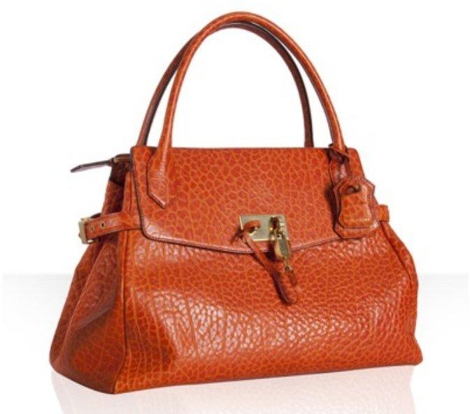 Marc Jacobs orange textured calfskin 'Camille' satchel