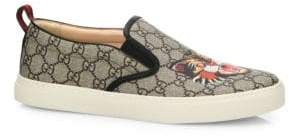 Gucci GG Supreme Angry Cat Slip-On Sneakers