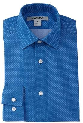 DKNY Neat Chambray Dress Shirt (Big Boys)