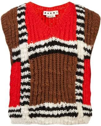 Marni mesh pattern knit vest