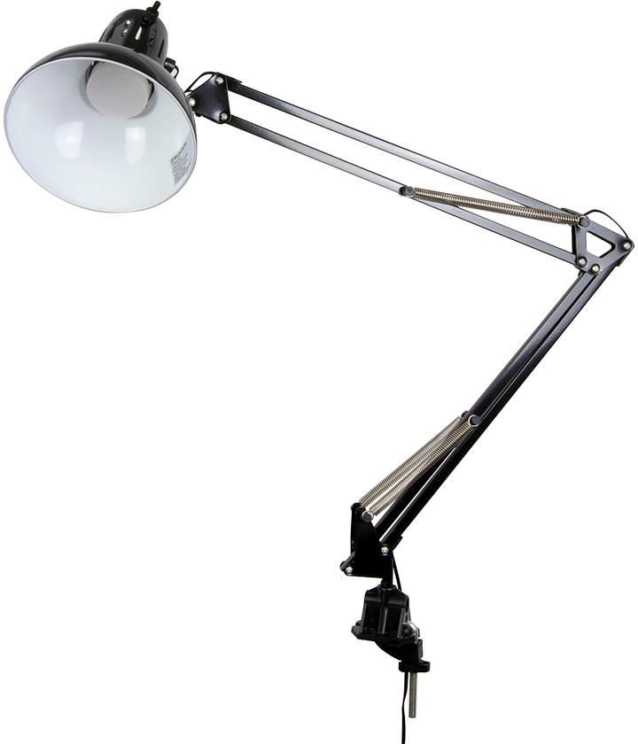 Black Metal LED Swing Arm Clamp Lamp