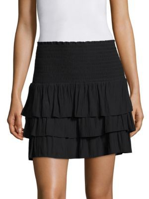Ramy Brook Allison Tiered Skirt $275 thestylecure.com