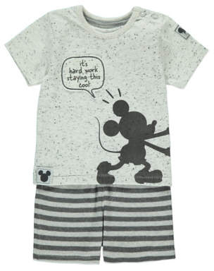 Disney George Mickey Mouse T-Shirt and Shorts