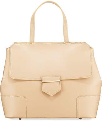 Neiman Marcus Saffiano Top-Handle Satchel Bag