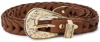 B-Low the Belt braided western buckle belt