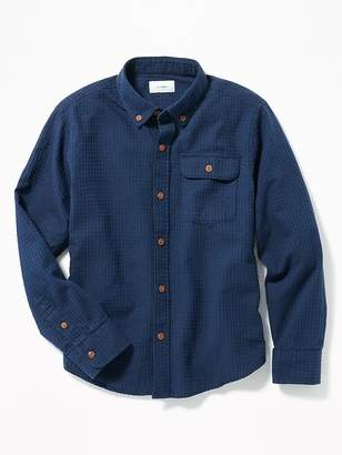 Old Navy Long-Sleeve Dobby Shirt for Boys