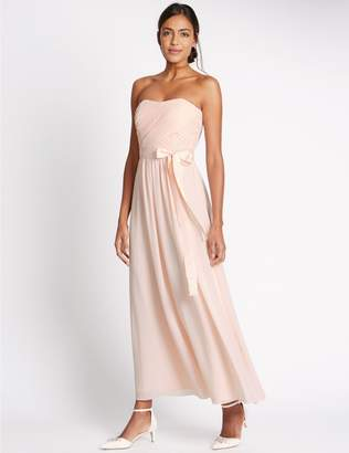 Marks and Spencer Detachable Straps Pleated Maxi Dress