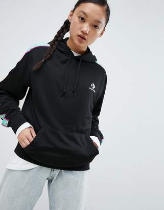 Converse Side Stripe Hoodie In Black