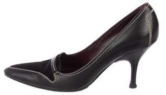 Tod's Leather Pointed-Toe Pumps