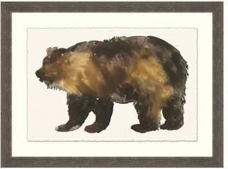 Pottery Barn Bear Impression Framed Print