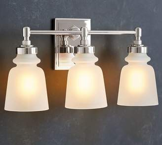 Pottery barn bathroom lighting shopstyle pottery barn benchwright triple sconce aloadofball Choice Image