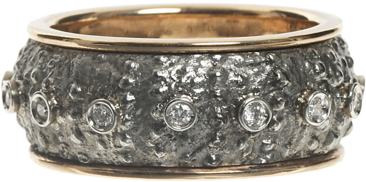 Rettore Steel and Diamond Ring