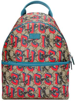 Gucci Children's GG wolves backpack