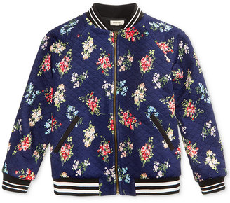 Monteau Quilted Floral Bomber Jacket, Big Girls (7-16) $46 thestylecure.com