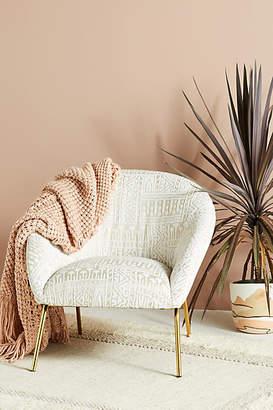 Anthropologie Rosa Print Hillside Accent Chair