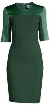 BOSS Danufa Stretch Wool Colorblock Sheath Dress