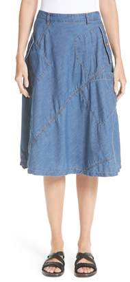 Comme des Garcons Chambray & Eyelet Skirt