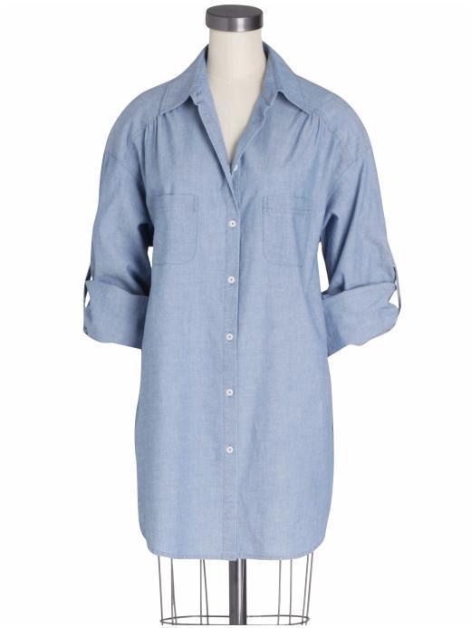 Vince Oversized Roll Sleeve Shirt