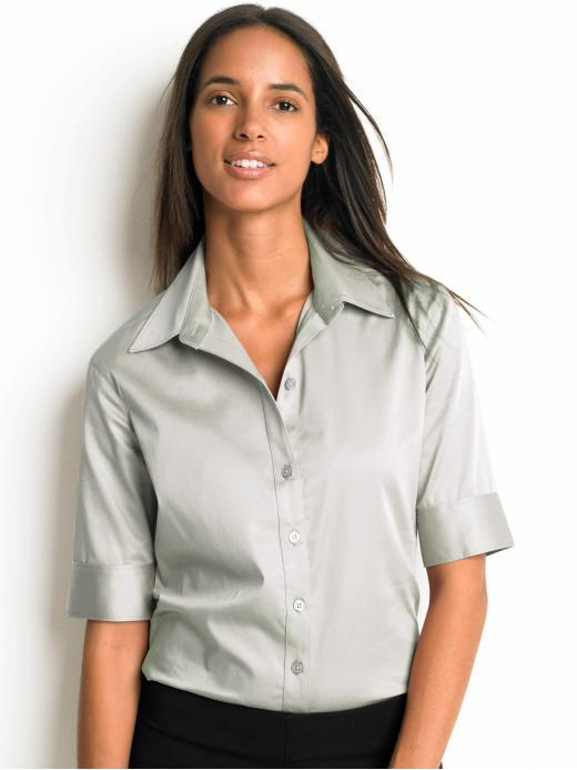 Elbow-sleeve stretch shirt