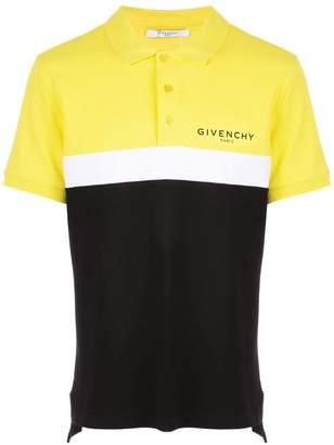 Givenchy colour-block polo shirt