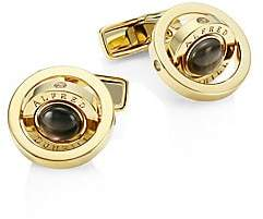 Dunhill Men's Gyro Goldplated Black Mother-Of-Pearl Cufflinks