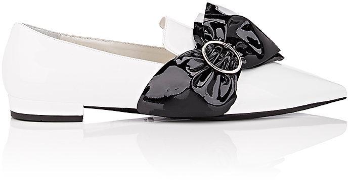 pradaPrada Women's Oversized-Bow Patent Leather Loafers