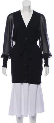 ALICE by Temperley Button-Up Longline Cardigan Black Button-Up Longline Cardigan