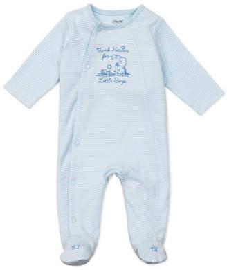 Little Me Infant Boys Thanks Footie