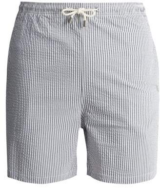 Solid & Striped The Classic Striped Swim Shorts - Mens - Navy