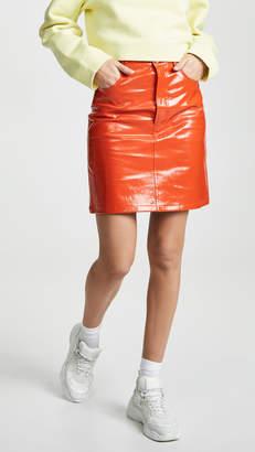 Helmut Lang Patent Leather Skirt