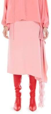 Tibi Side Fringe Midi Skirt