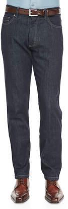 Ermenegildo Zegna Five-Pocket Jeans, Indigo $375 thestylecure.com