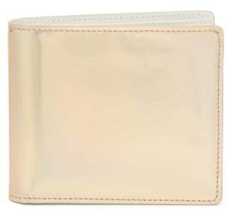 Maison Margiela Classic Metallic Leather Bi Fold Wallet - Mens - Grey