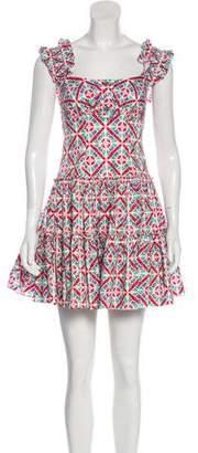 Caroline Constas Ruffled Floral Dress