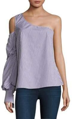 Petersyn Lara One-Shoulder Stripe Top