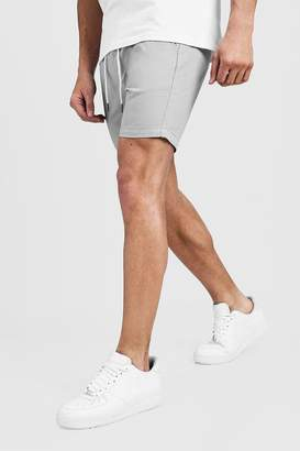 boohoo Slim Fit Rugby Chino Shorts