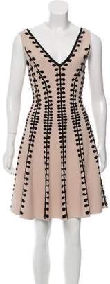 Alexander McQueen Embroidered A-Line Dress
