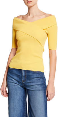 Bailey 44 Shore Leave Ribbed Cross-Front Sweater