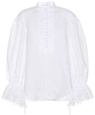 Chloé Cotton poplin top